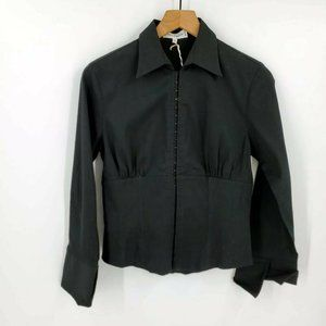 Anne Fontaine Kay Hook and Eye Collared Blouse NWT